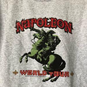 Vintage Shirts - Napoleon World Tour Graphic Mens T Shirt